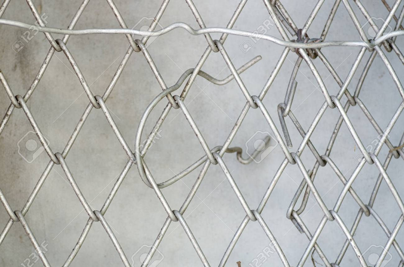 Texture Of Wire Mesh.Steel Grating Fence Background.Close Up.. Stock ...