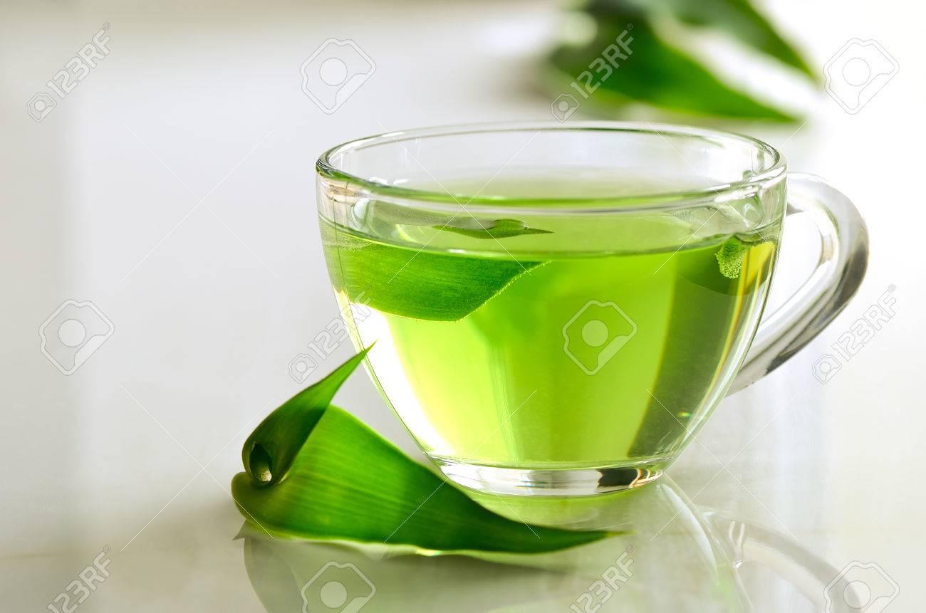 Green Spa Tee In Einem Glas, Entgiftung Und Entspannende Warme ...