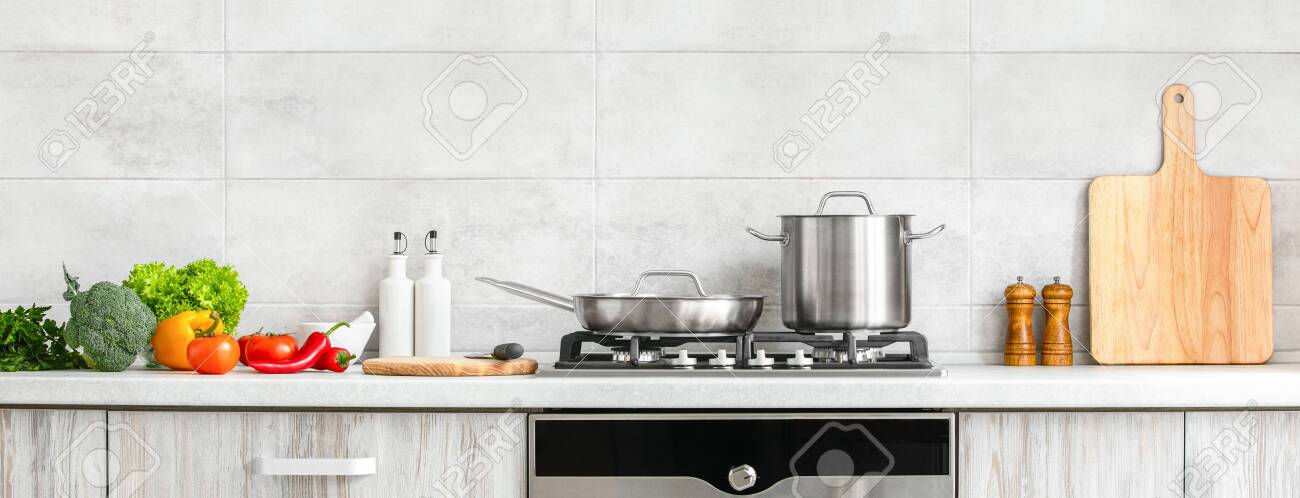 Fresh Clean Vegetables Being Put On A Kitchen Desk Top Ready Stock Photo Picture And Royalty Free Image Image 142732204