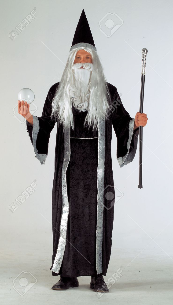 Man In Wizard Costume Stock Photo, Picture And Royalty Free Image ...