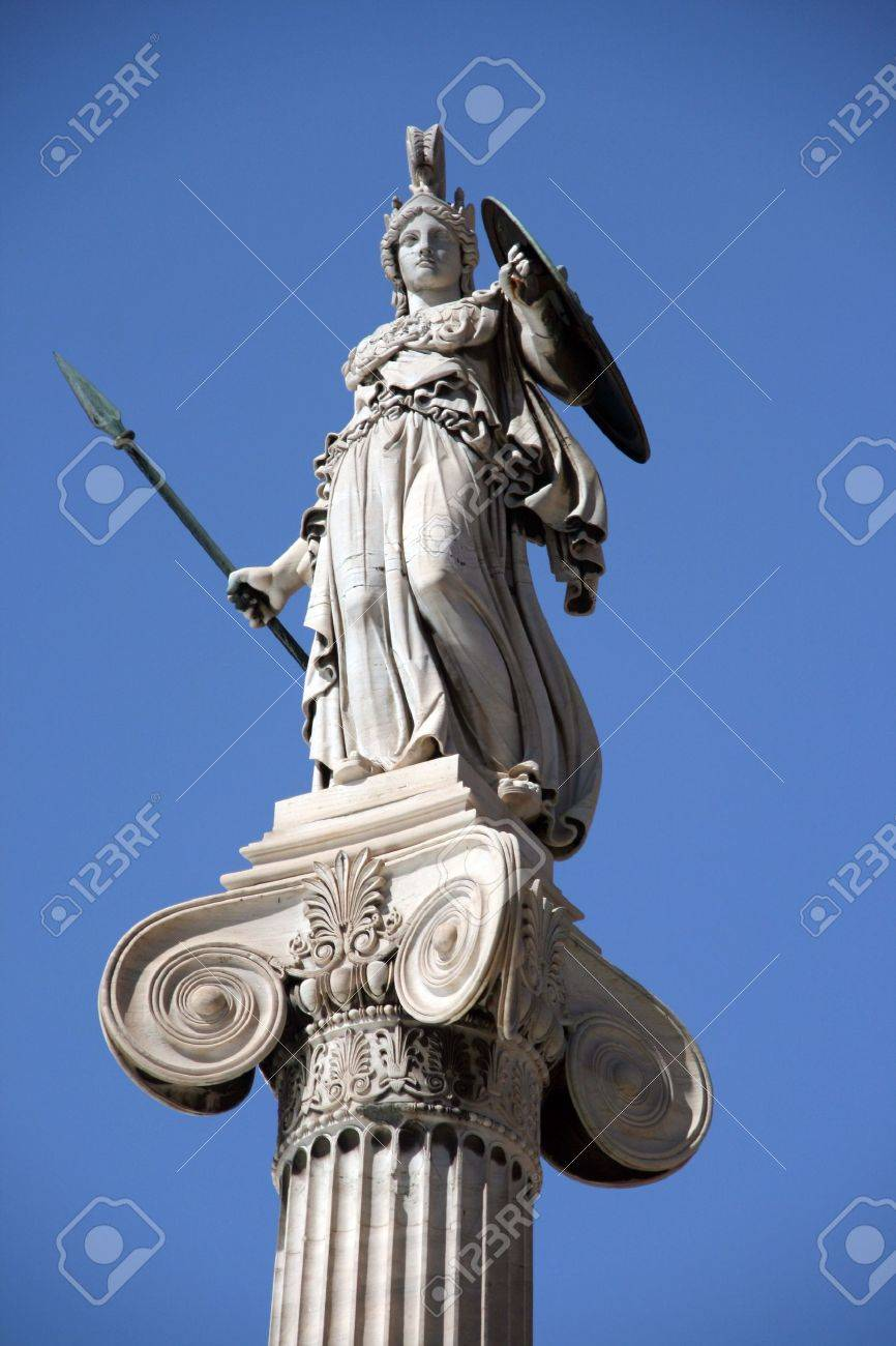 statue of goddess athena stock photo picture and royalty free