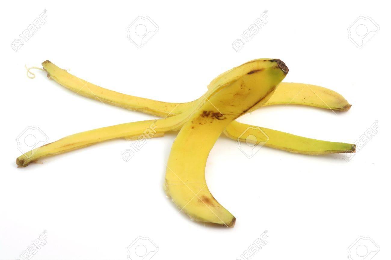 peel of banana isolated on white background dangerous cocepts - 2563996