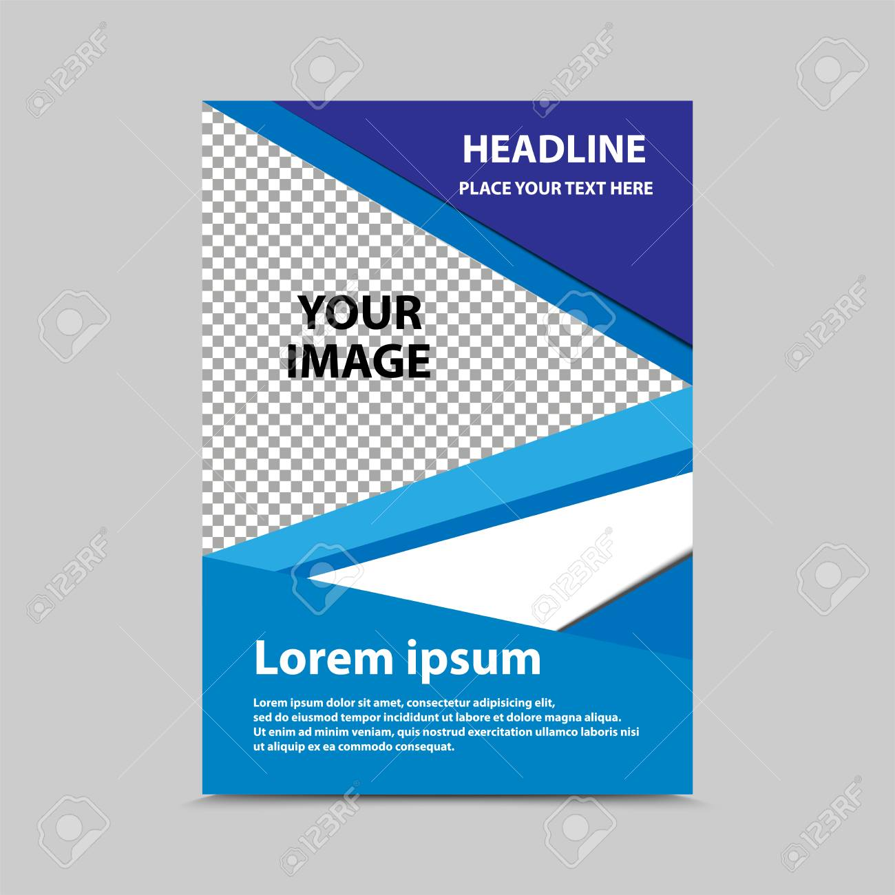 cover brochure template catalog sheet vector design ロイヤリティ