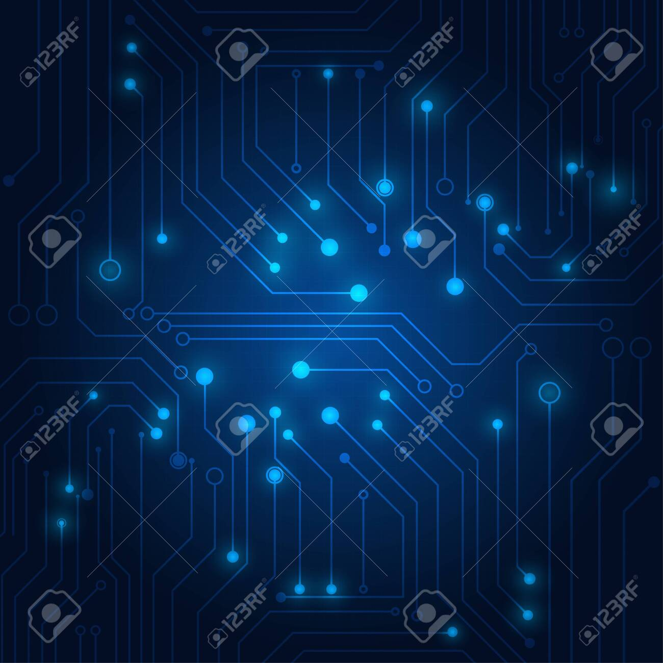 High Tech Technology Geometric And Blue Background With Digital