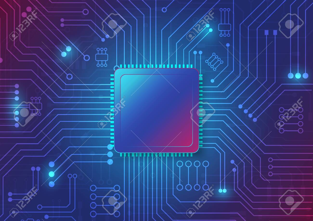 Circuit board technology background with hi-tech digital data connection system and computer electronic desing - 139204439