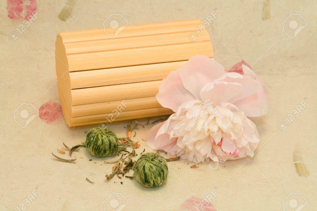 A mix lotus flower chinese tea with peony and bamboo stock photo a mix lotus flower chinese tea with peony and bamboo stock photo 102059140 izmirmasajfo