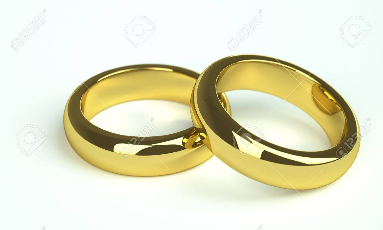 Two Golden Wedding Rings Stock Photo Picture And Royalty Free Image