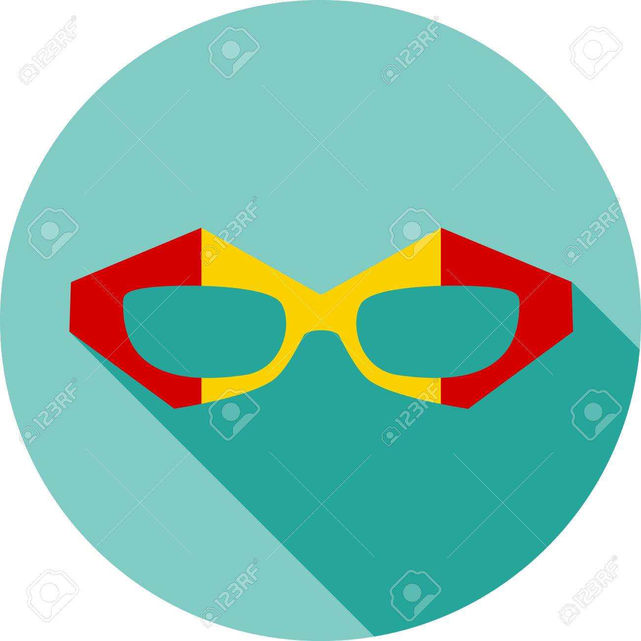 f7b5b4412d ... hipster eyeglasses frames in different character colors. Super hero  mask glasses collection. Flat style avatar icon. Colorful vector  illustration eps 8