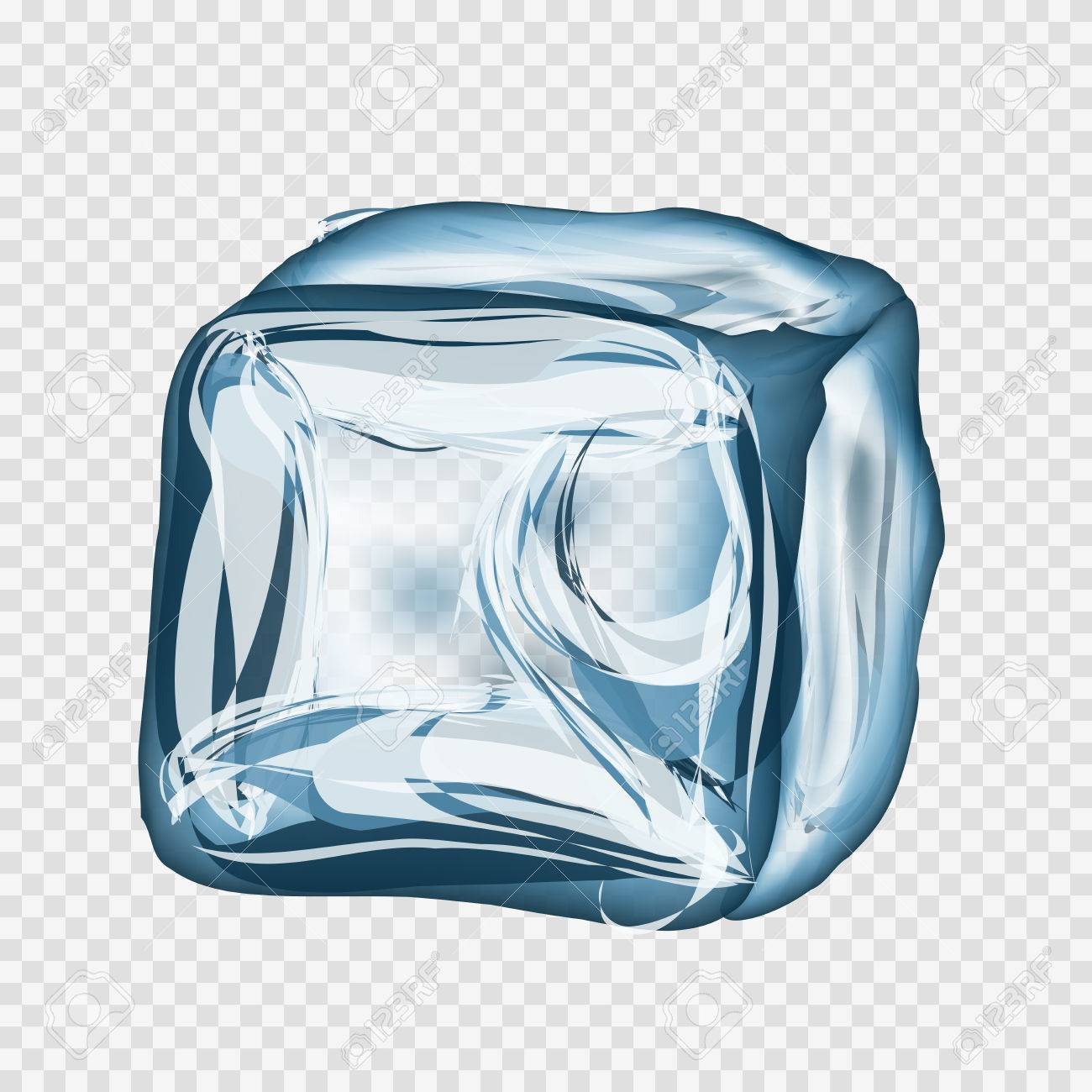 transparent ice cube in blue colors on light gray background royalty free cliparts vectors and stock illustration image 44565743 transparent ice cube in blue colors on light gray background