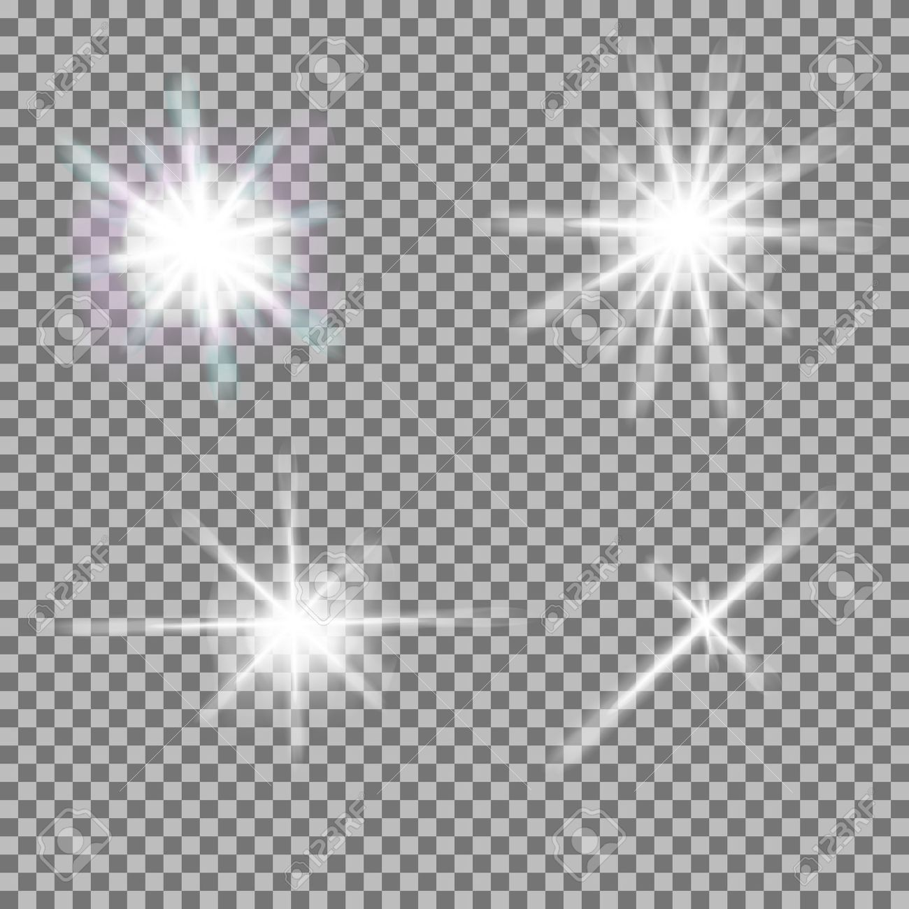 Vector Set Of Glowing Light Bursts With Sparkles On Transparent ... for Glowing Light Png  45ifm