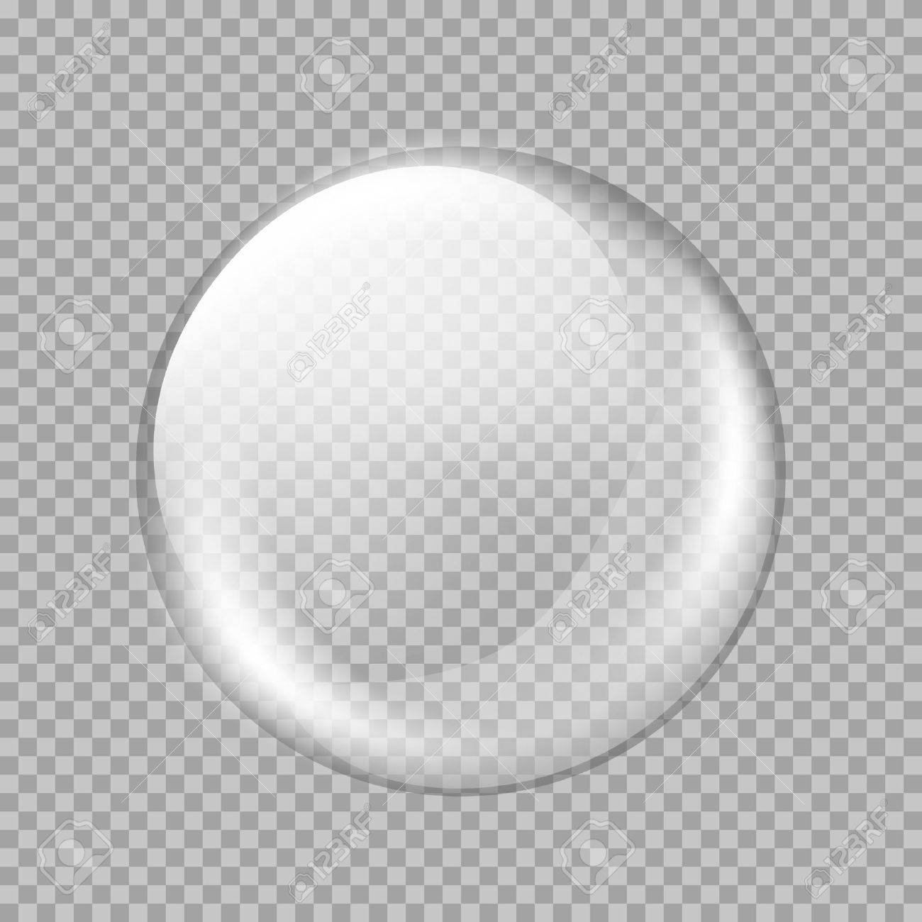 Big white transparent glass sphere with glares and highlights. White pearl. Vector illustration, contains transparencies, gradients and effects - 50538889