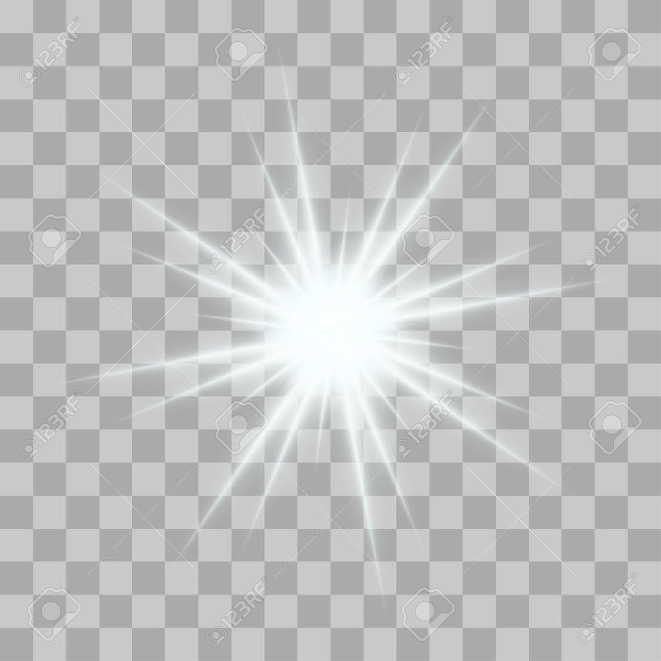 Vector glowing light bursts with sparkles on transparent background. Transparent gradient stars, lightning flare. Magic, bright, natural effects. Abstract texture for your design and business. - 51267329