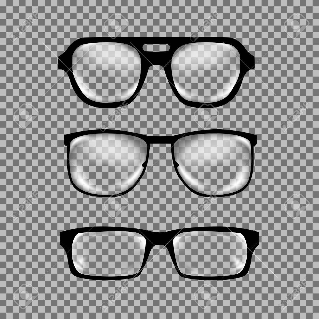 Satz Von Benutzerdefinierten Gläser Isoliert. Abbildung Auf Weißem ...