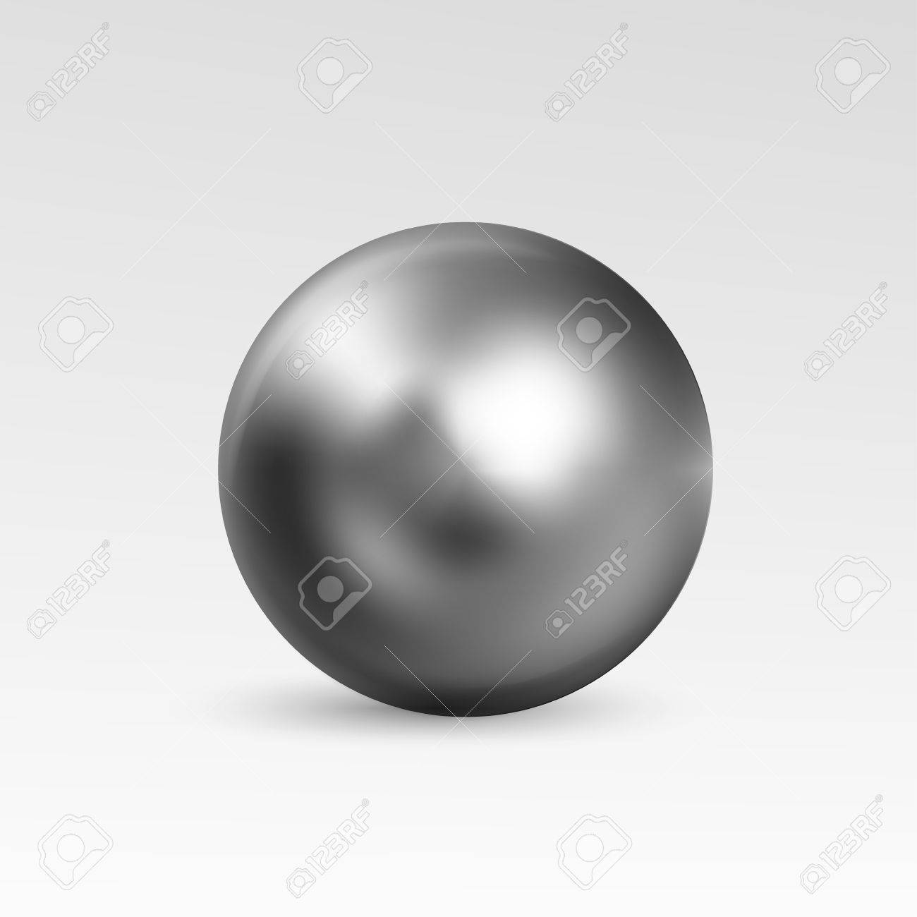 Fantastic Ball Realistic Isolated On White Background. Spherical 3D Orb  DY92