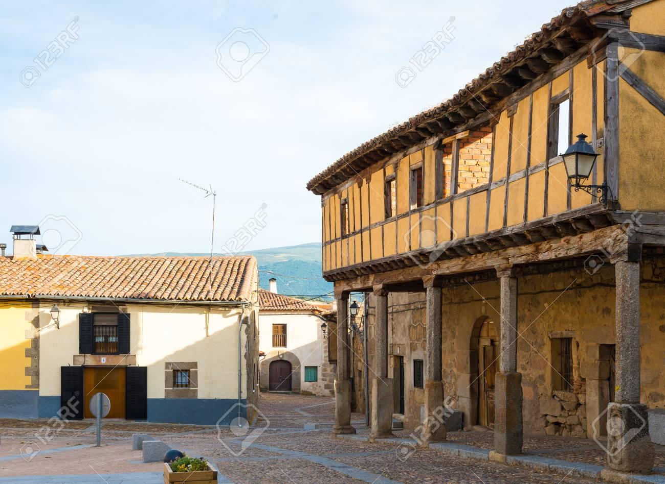 Street Of Bonilla De La Sierra Castilla Y Leon Spain