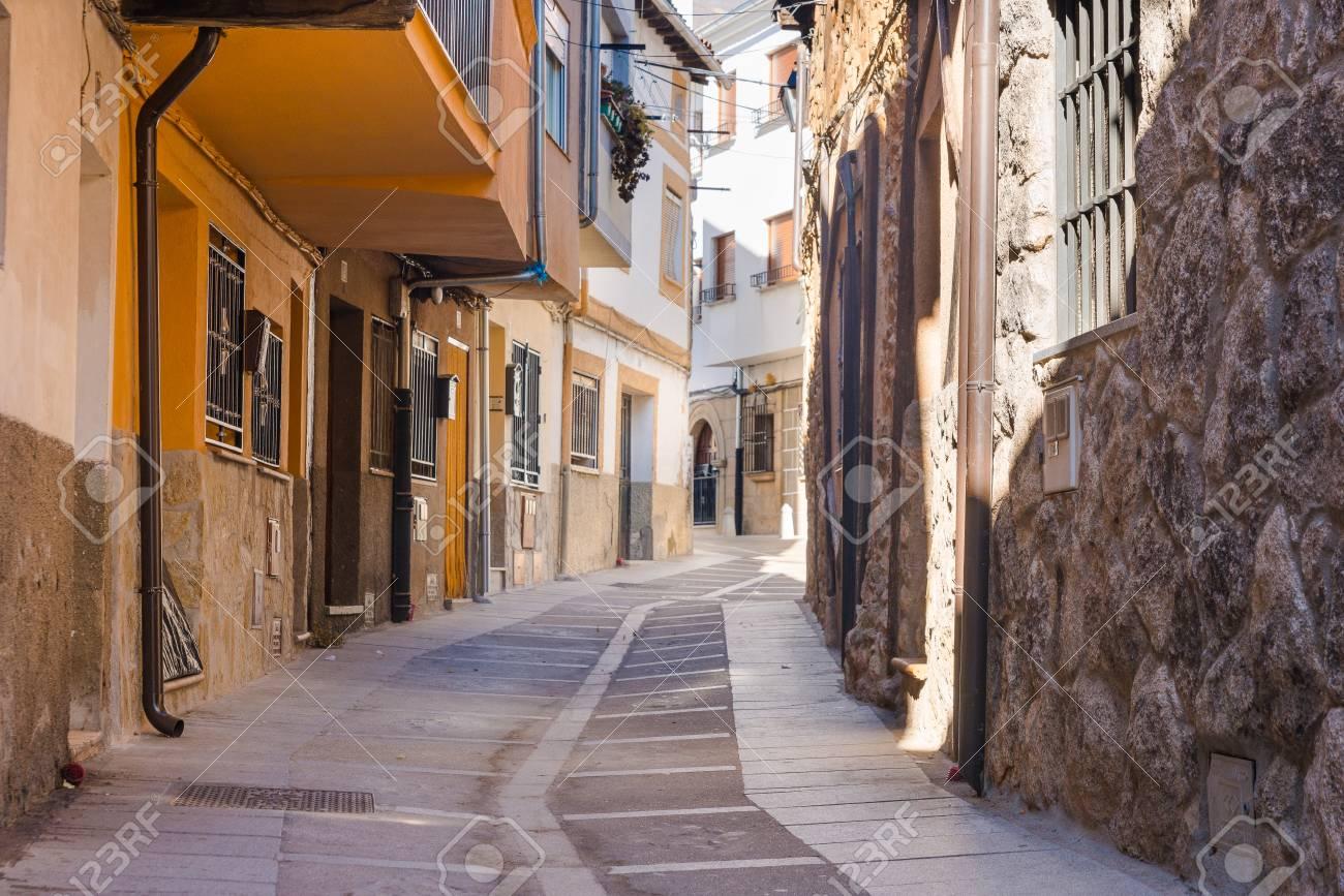 Calles Antiguas En Jerte, Cáceres, Extremadura, España Fotos ...