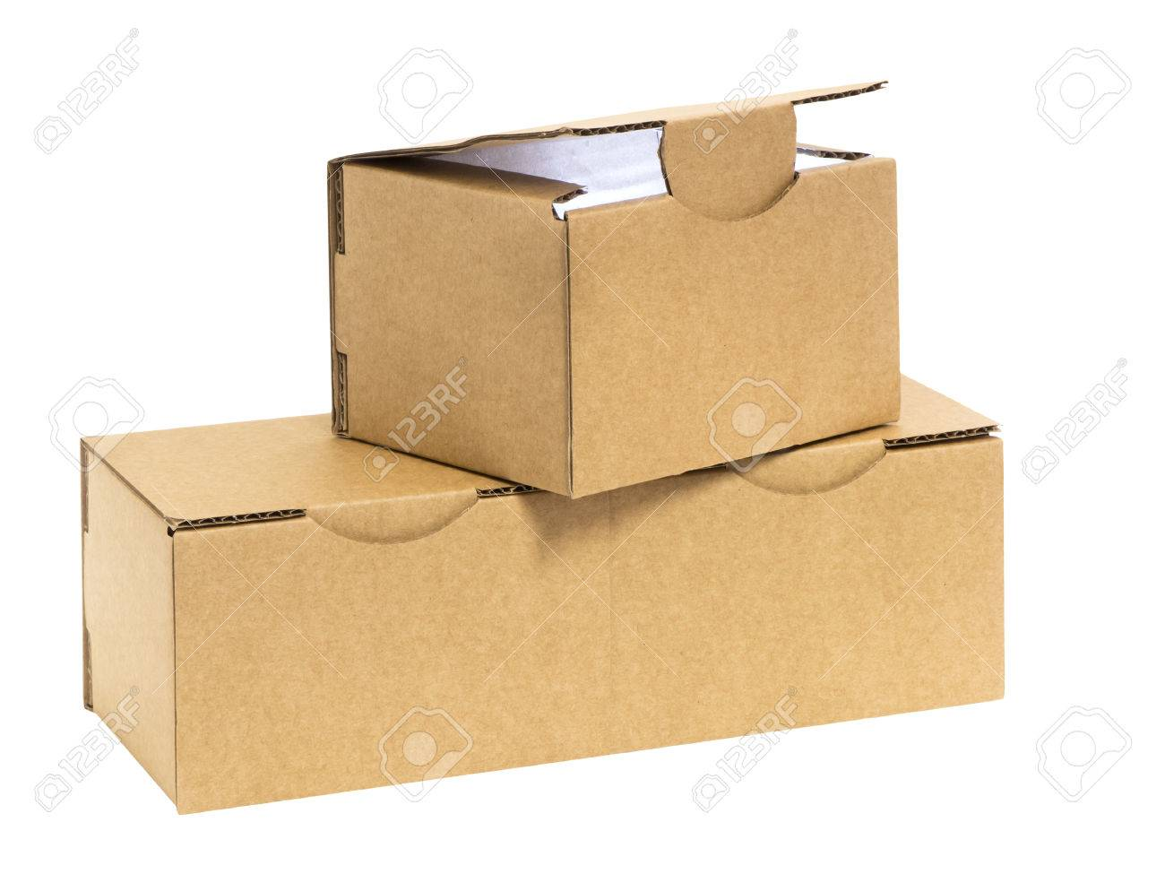 three stacked boxes with light in side stock photo picture and