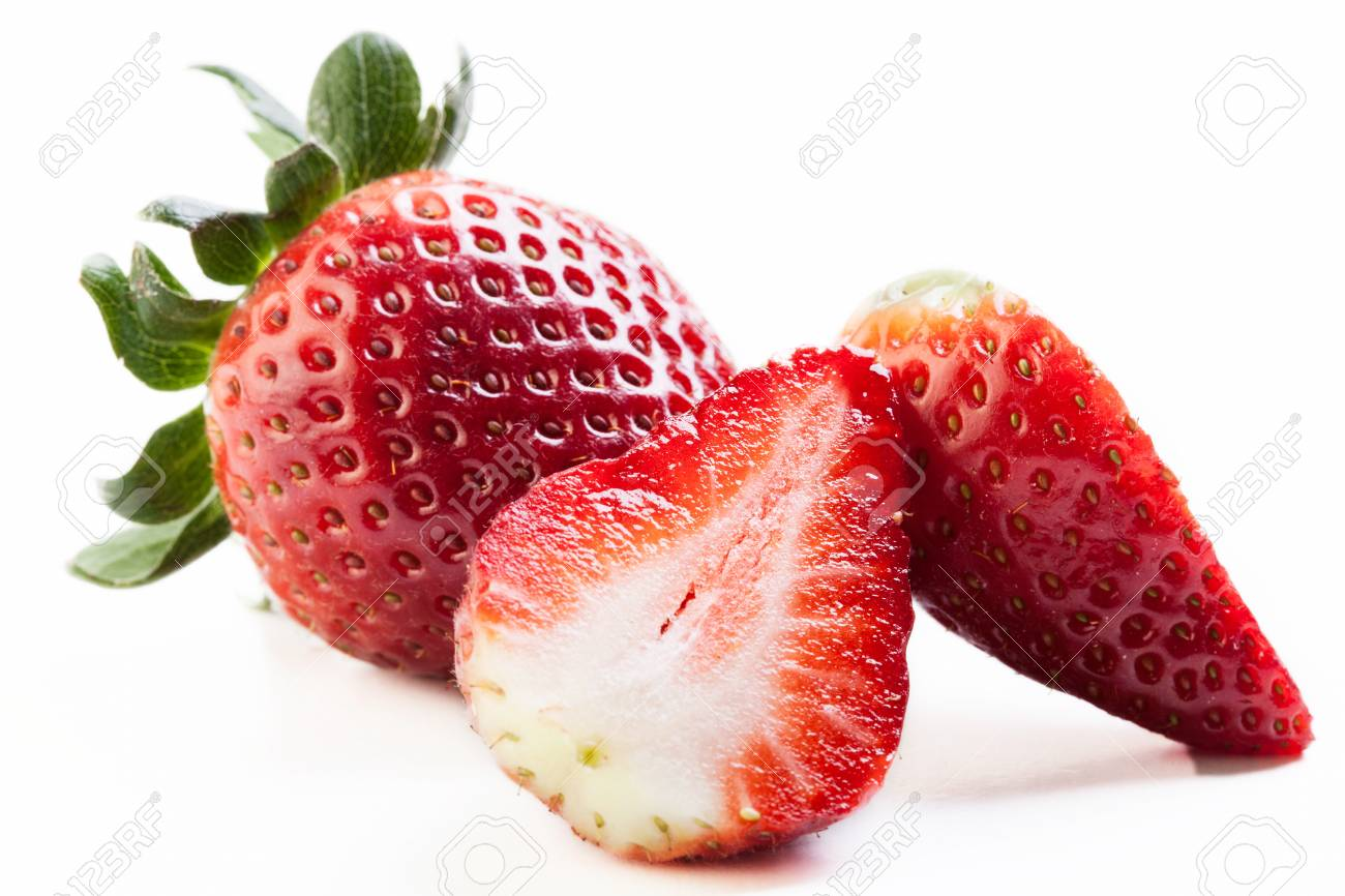 Strawberries on white background Stock Photo - 20325917