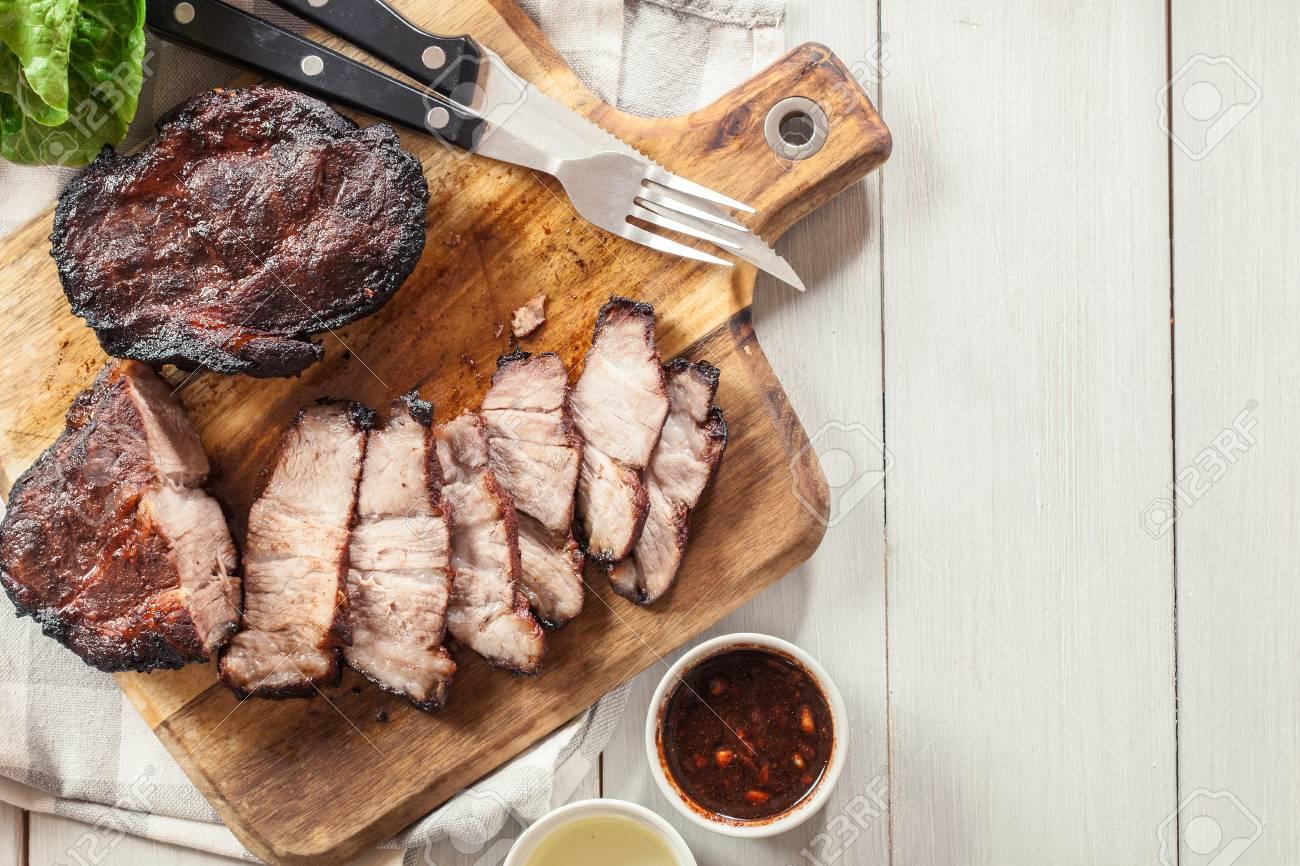 Char Siu Pork - Chinese roasted pork shoulder or pork belly on