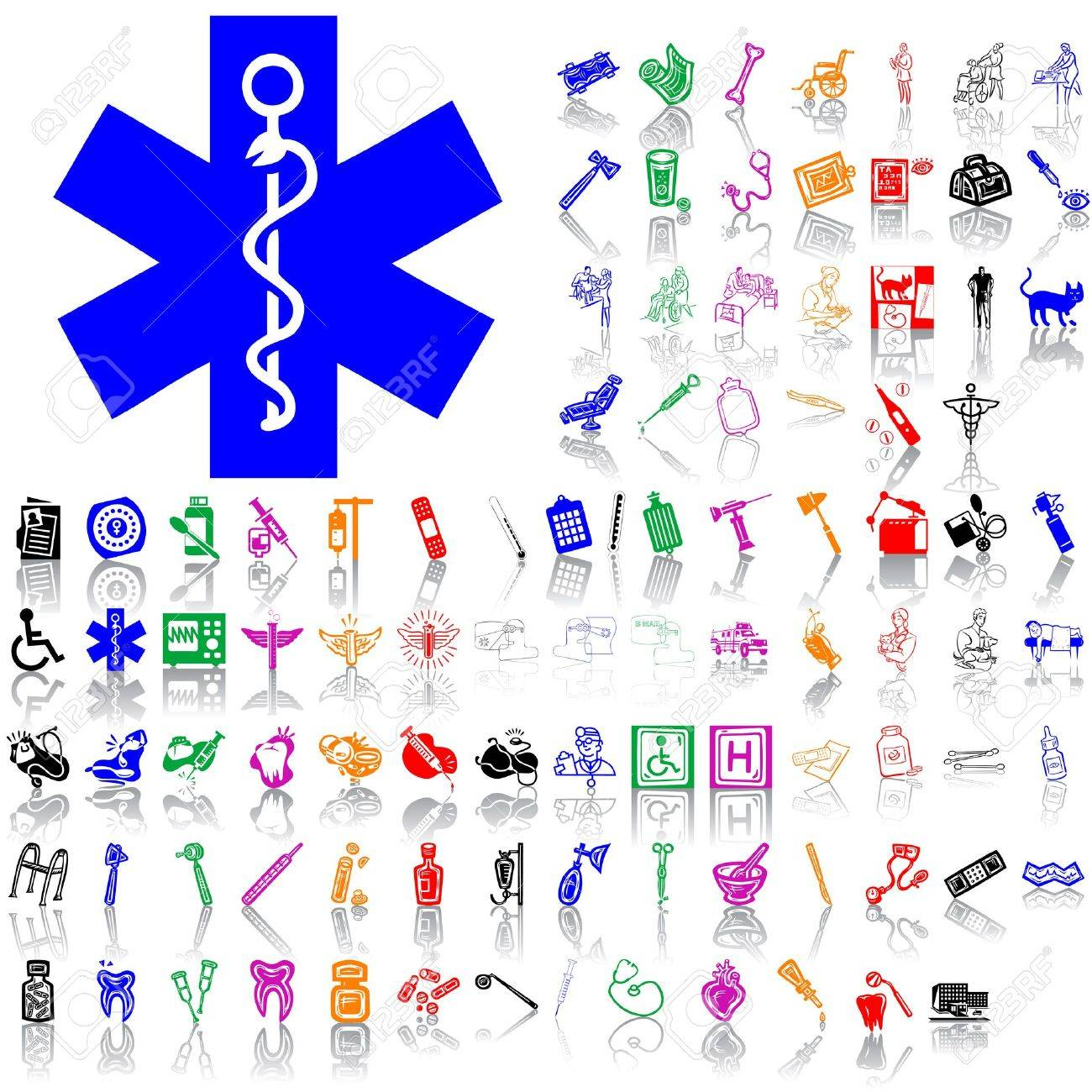 Set of medical sketches. Part 9. Isolated groups and layers. Global colors. Stock Vector - 5141003