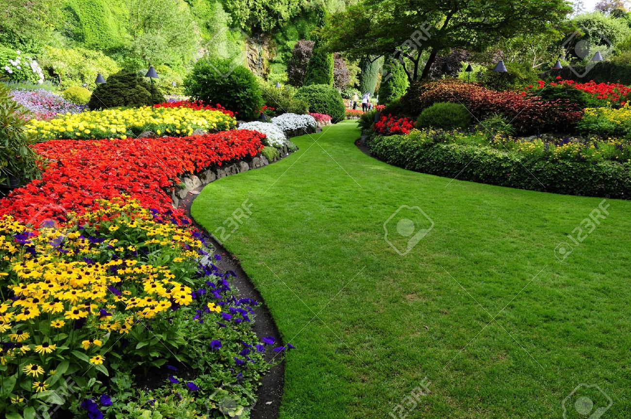 Landscaping flower beds - Garden Design With Formal Garden Stock Photos Pictures Royalty Free Formal Garden With Privacy