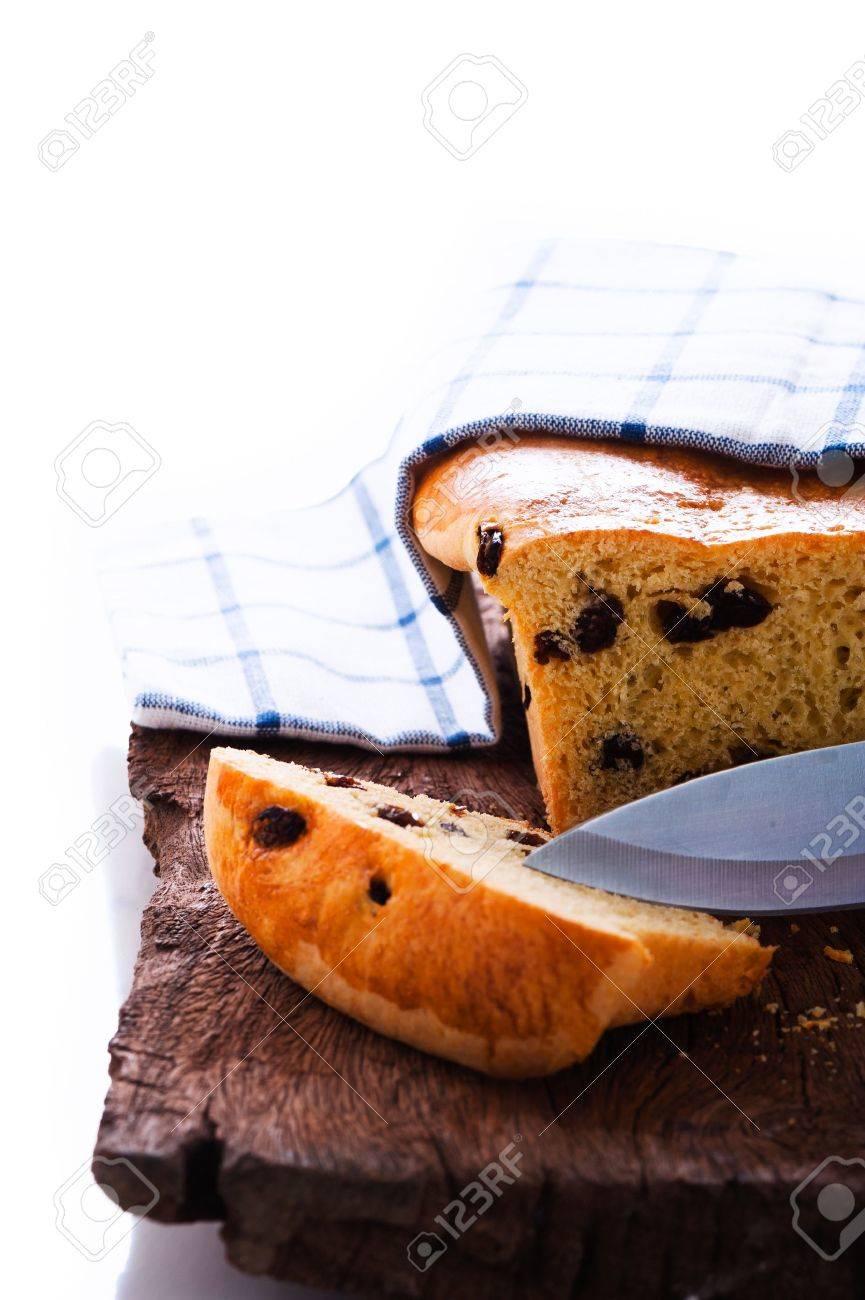 Fresh raisin bread as a studio shot Stock Photo - 12958858
