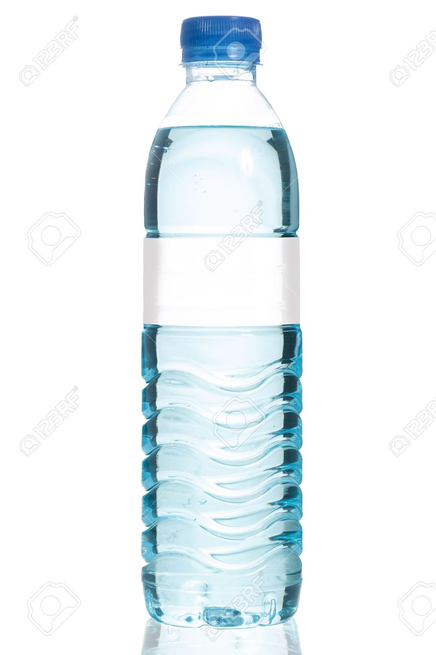 Mineral Water Bottle With Blank Label. Isolated On White ...