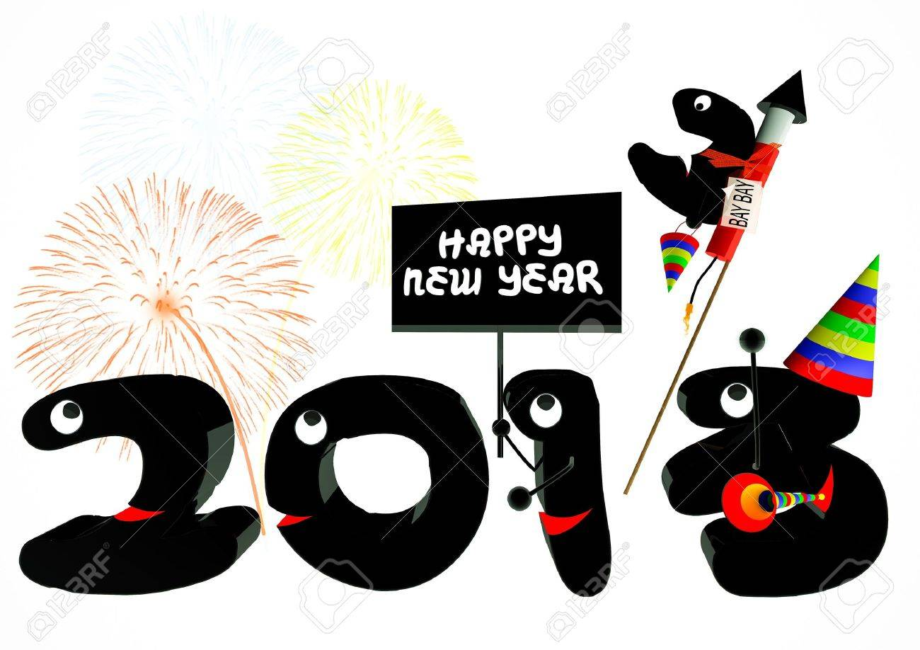 Funny 2013 New Year\'s Eve Greeting Card Stock Photo, Picture And ...