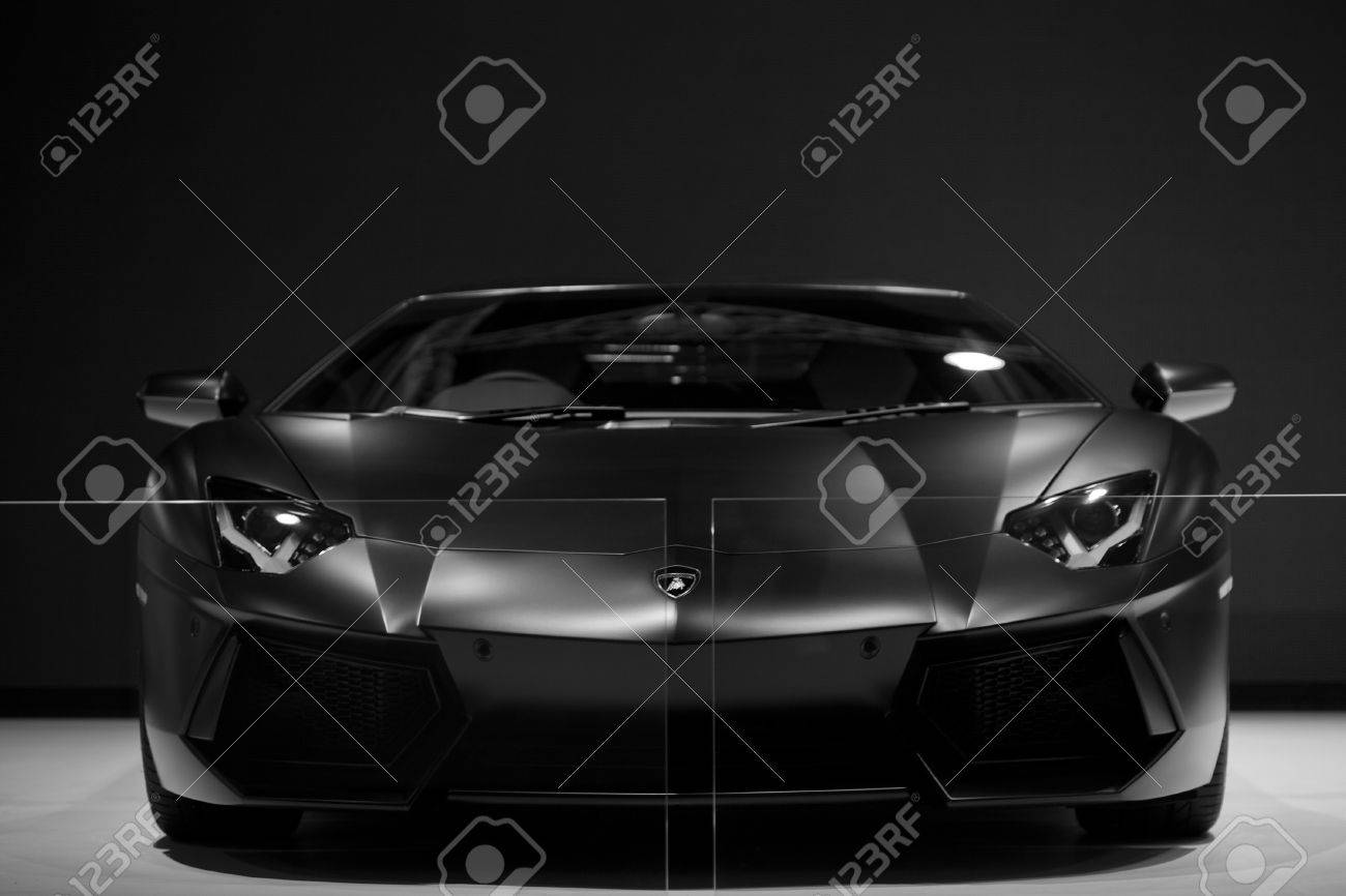 Bangkok, Thailand - May 13, 2013 - Black Lamborghini Galardo sports car on display at the Super Car Import Car Show at Impact Muang Thong Thani Stock Photo - 19652648