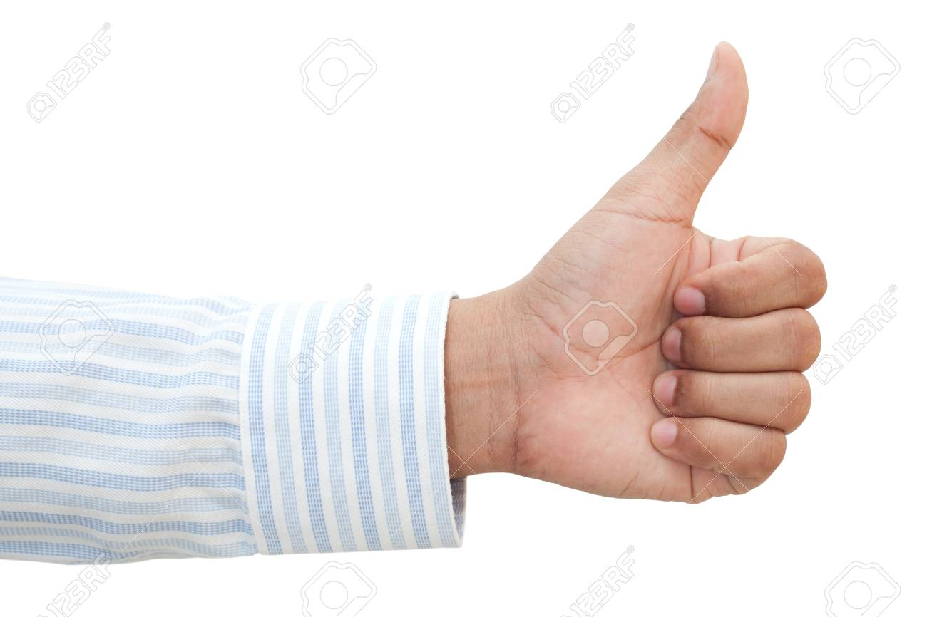Hand of business man with thumb up Stock Photo - 20898505