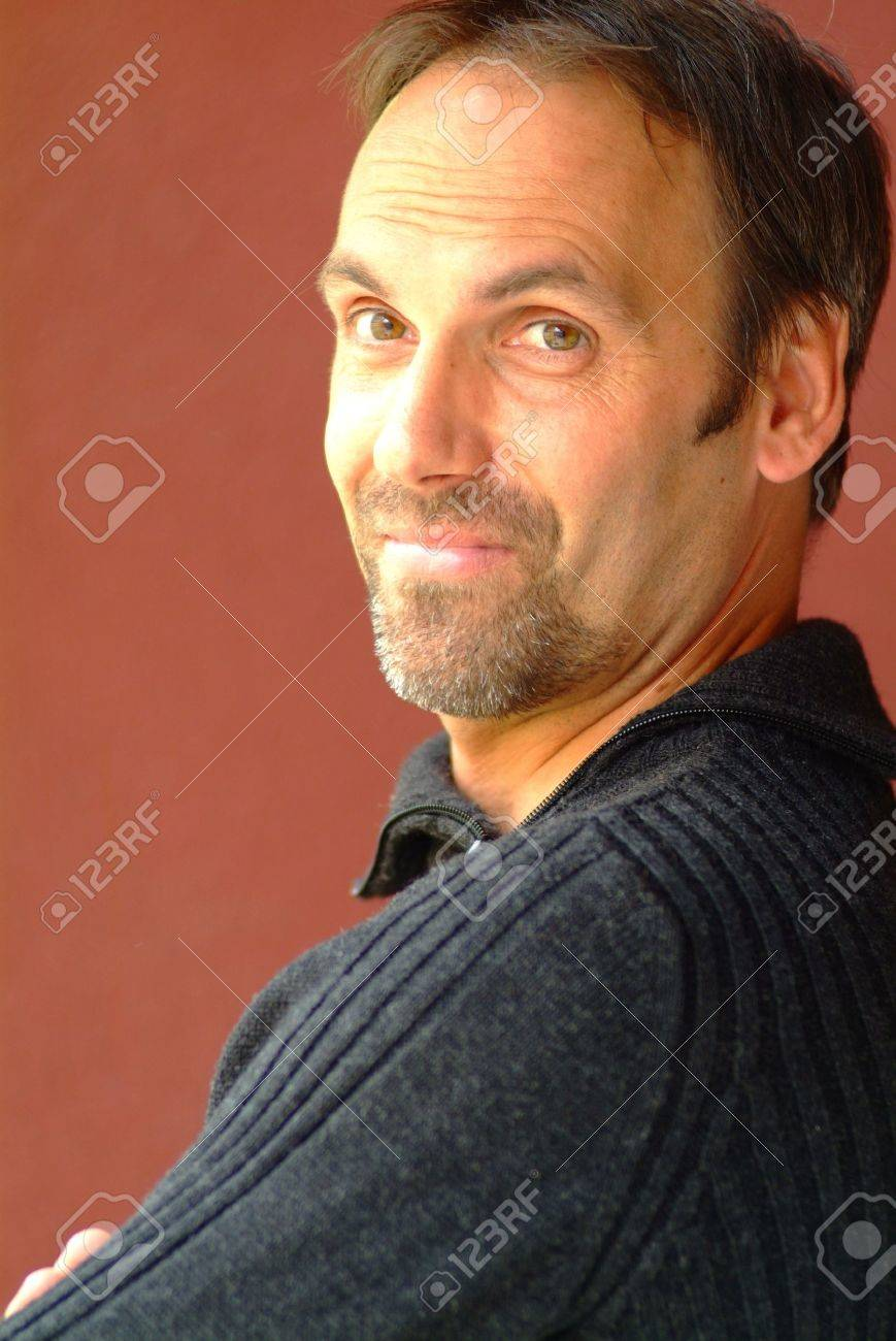 male model with black pullover Stock Photo - 634304