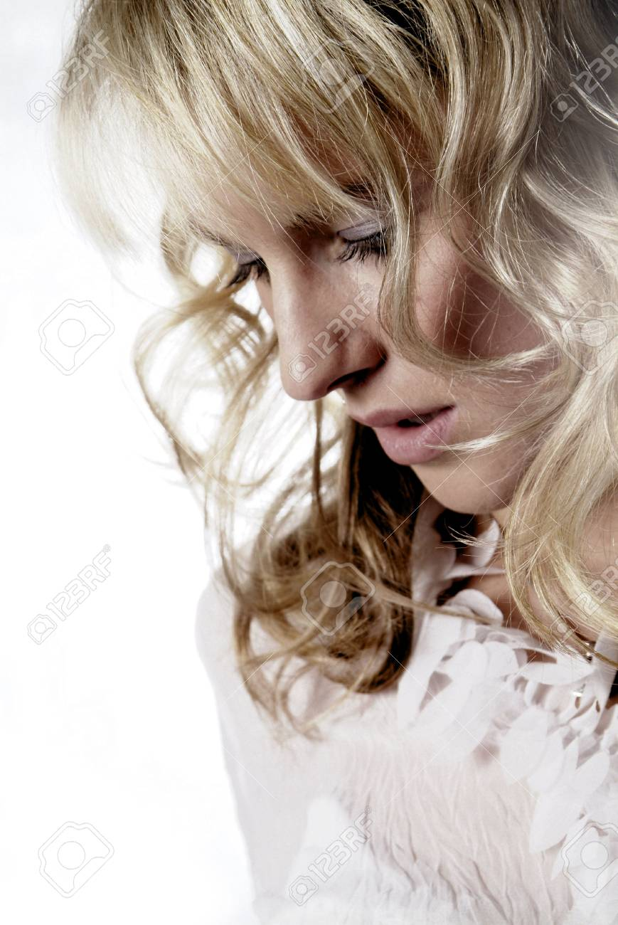 a portrait of a young and friendly woman Stock Photo - 704441