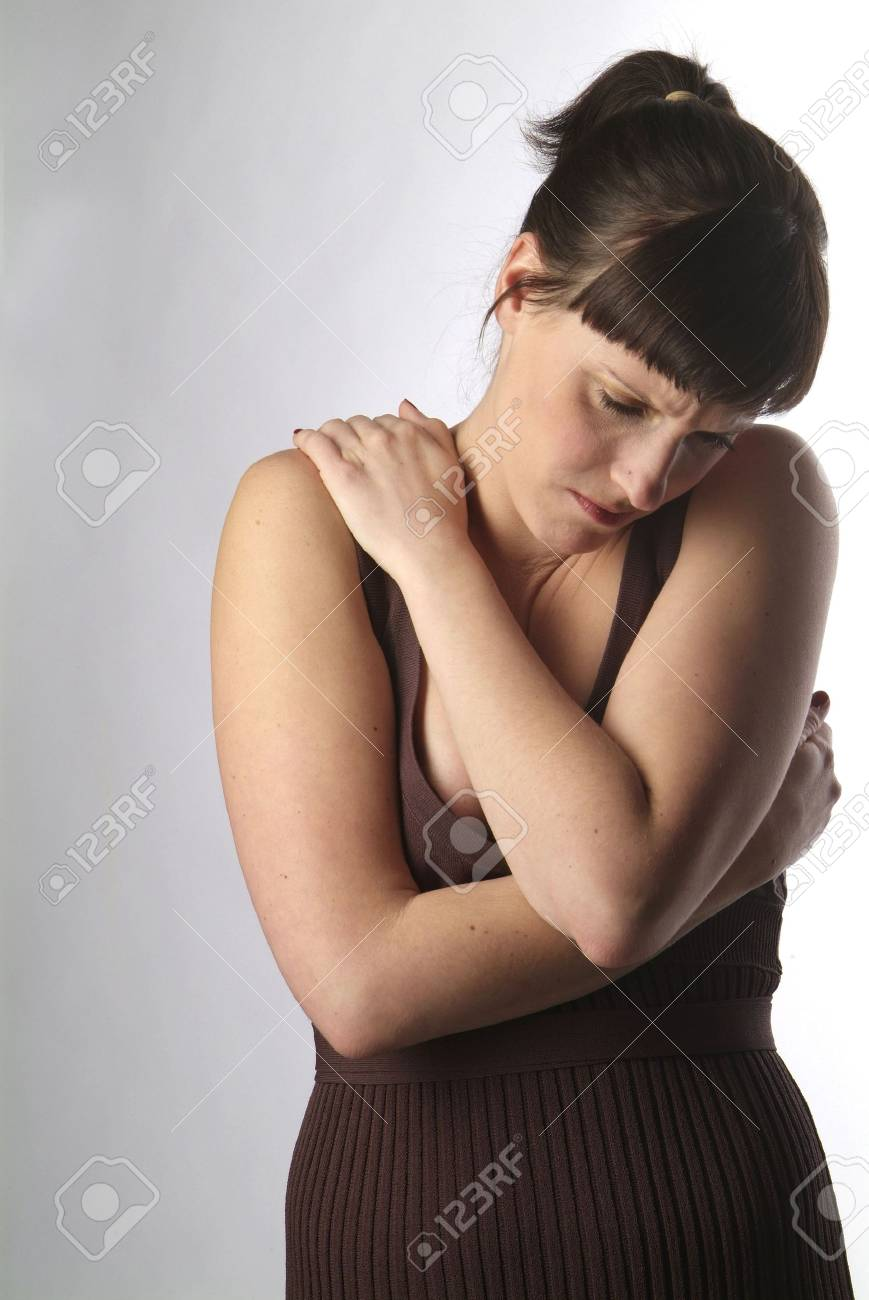 a portrait of a young and sad woman Stock Photo - 726341