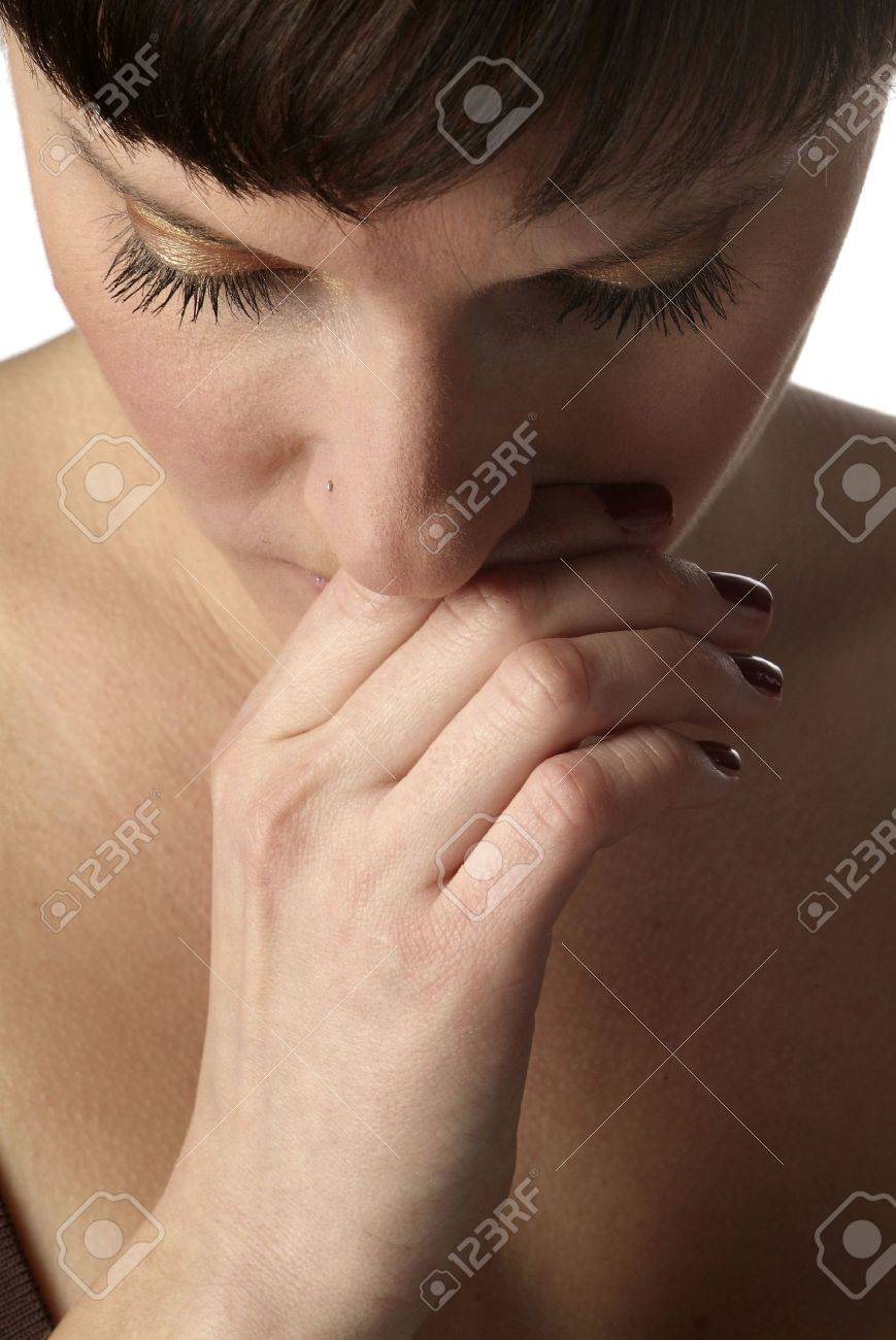 a portrait of a young and sad woman Stock Photo - 726345