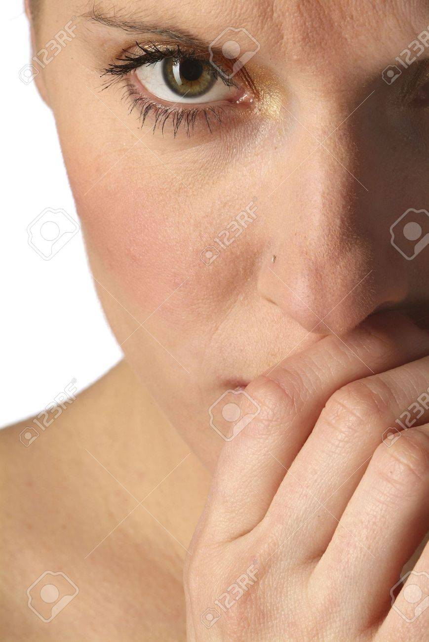 a portrait of a young and sad woman Stock Photo - 726346