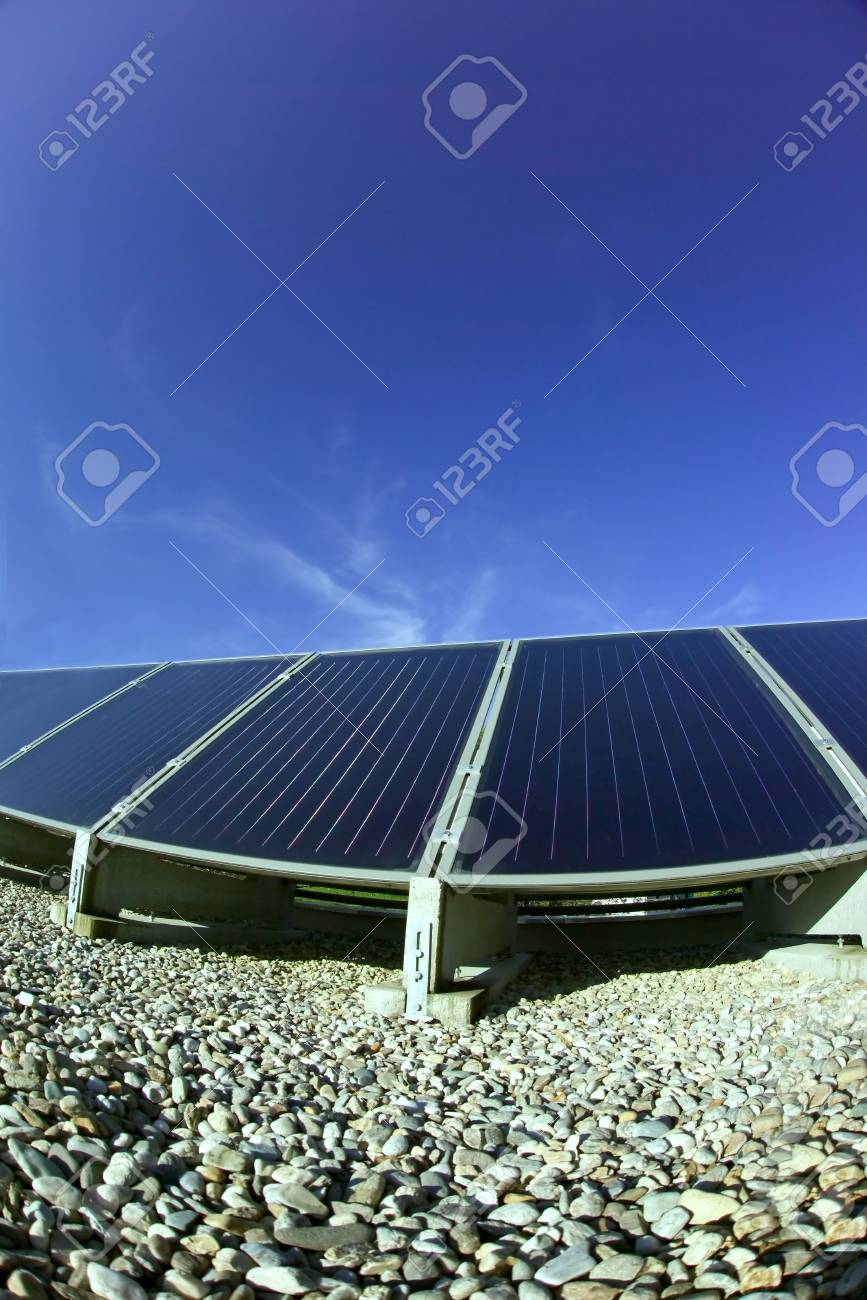 the details of a black a solar panel Stock Photo - 735678