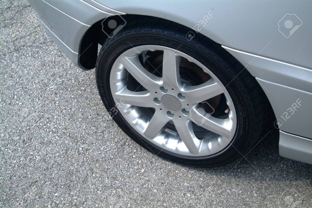an illustration of a car tire on the car Stock Illustration - 748724