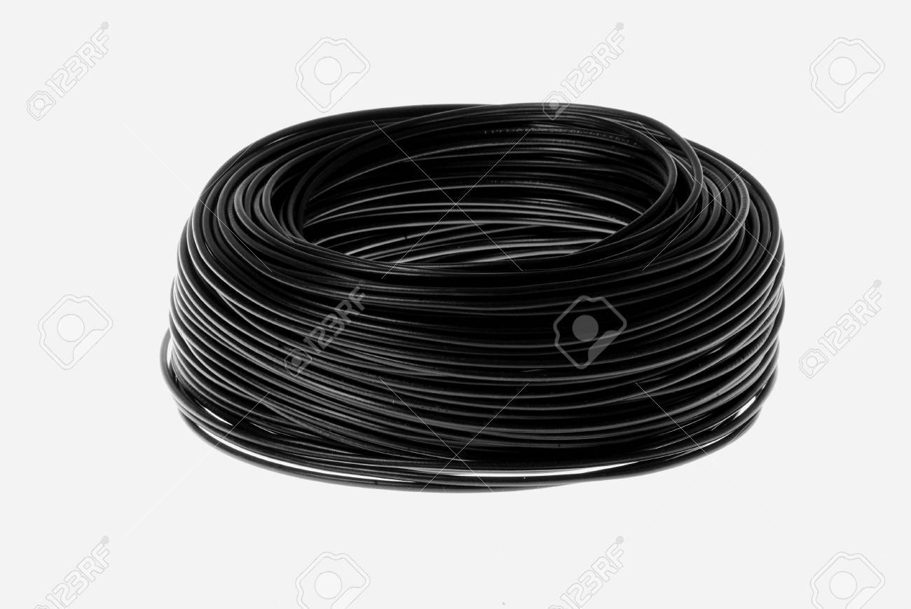 a black cabel on white background Stock Photo - 764718