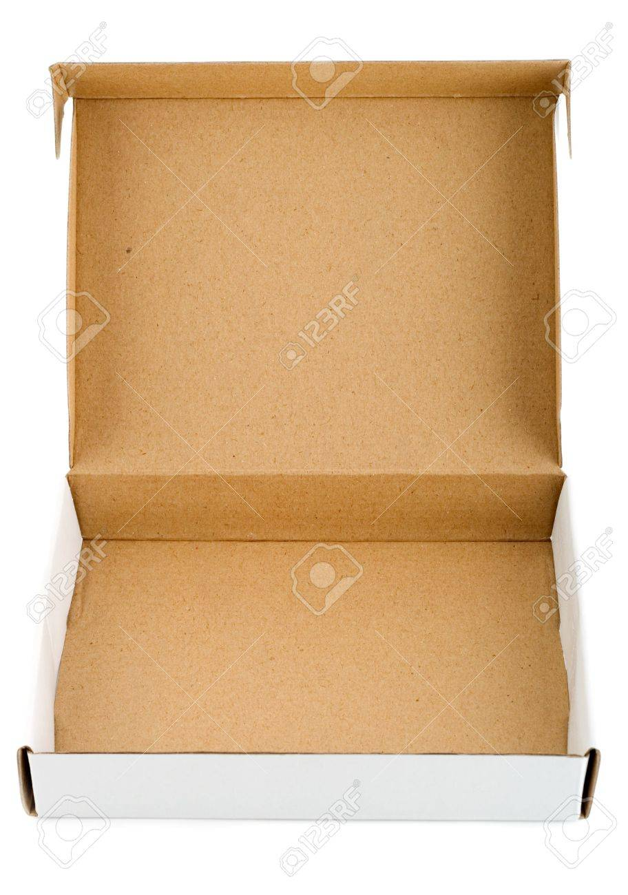Pizza box paperboard blank empty Stock Photo - 4603365