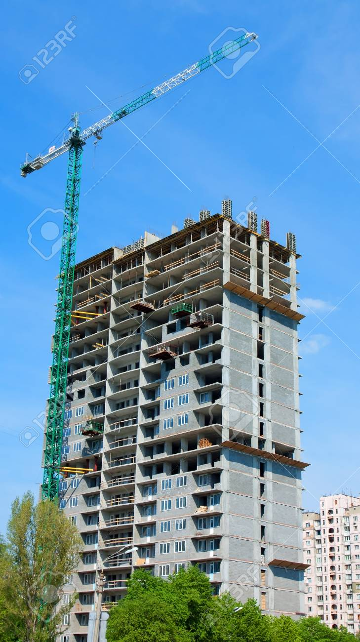 Construction site of modern building background Stock Photo - 13860567