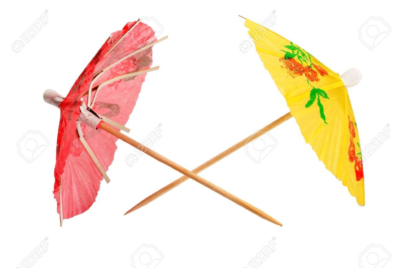 umbrellas cocktail isolated on white background Stock Photo - 13857013