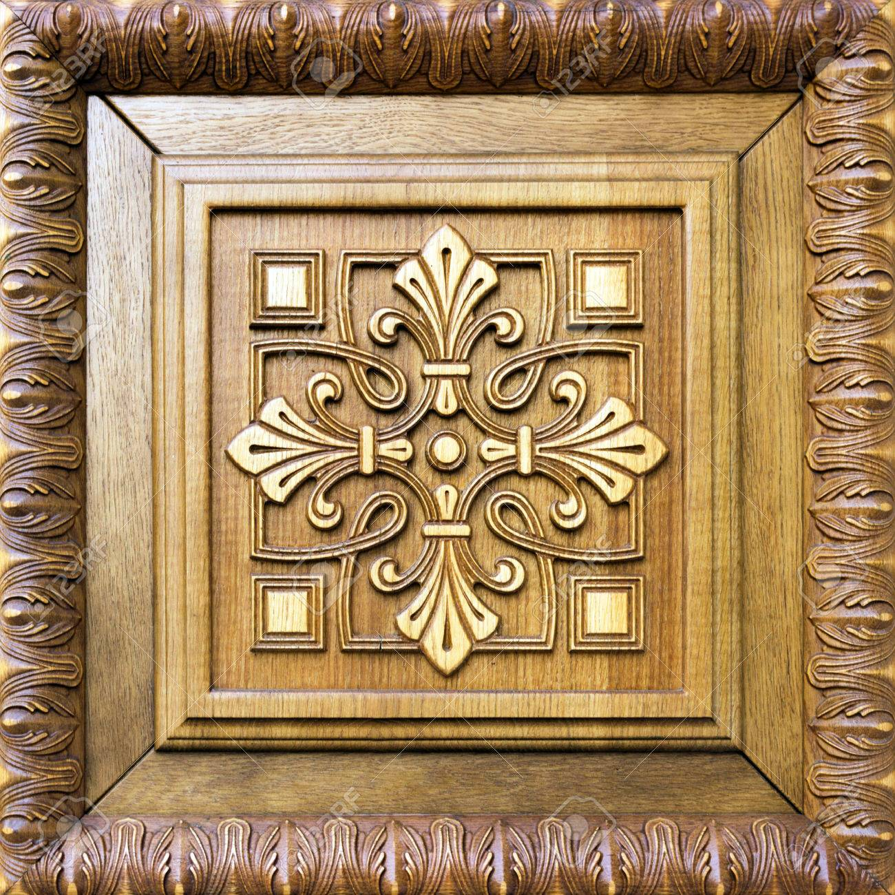 wooden door decoration pattern flower cross
