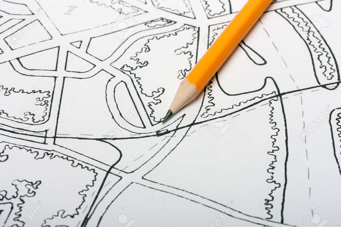 town map pencil to draw stock photo picture and royalty free