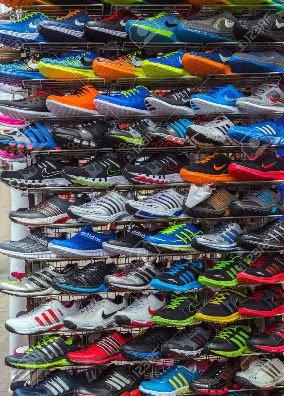 a9f0106688b30d Kuala Lumpur, Malaysia - February 19, 2015: Central Market sale Adidas Shoes  In