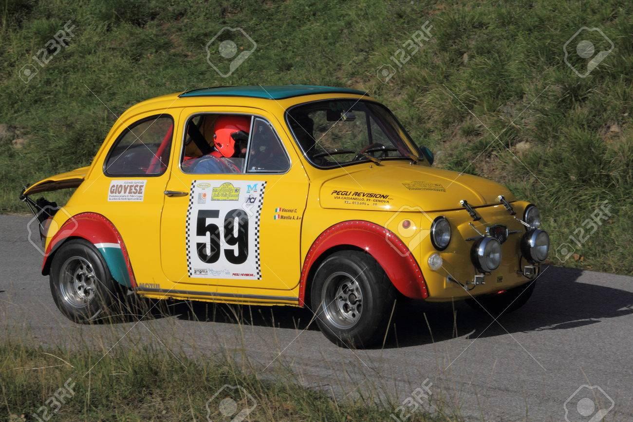 Racing Car Fiat 500 To Genoese Valleys Rally 2015