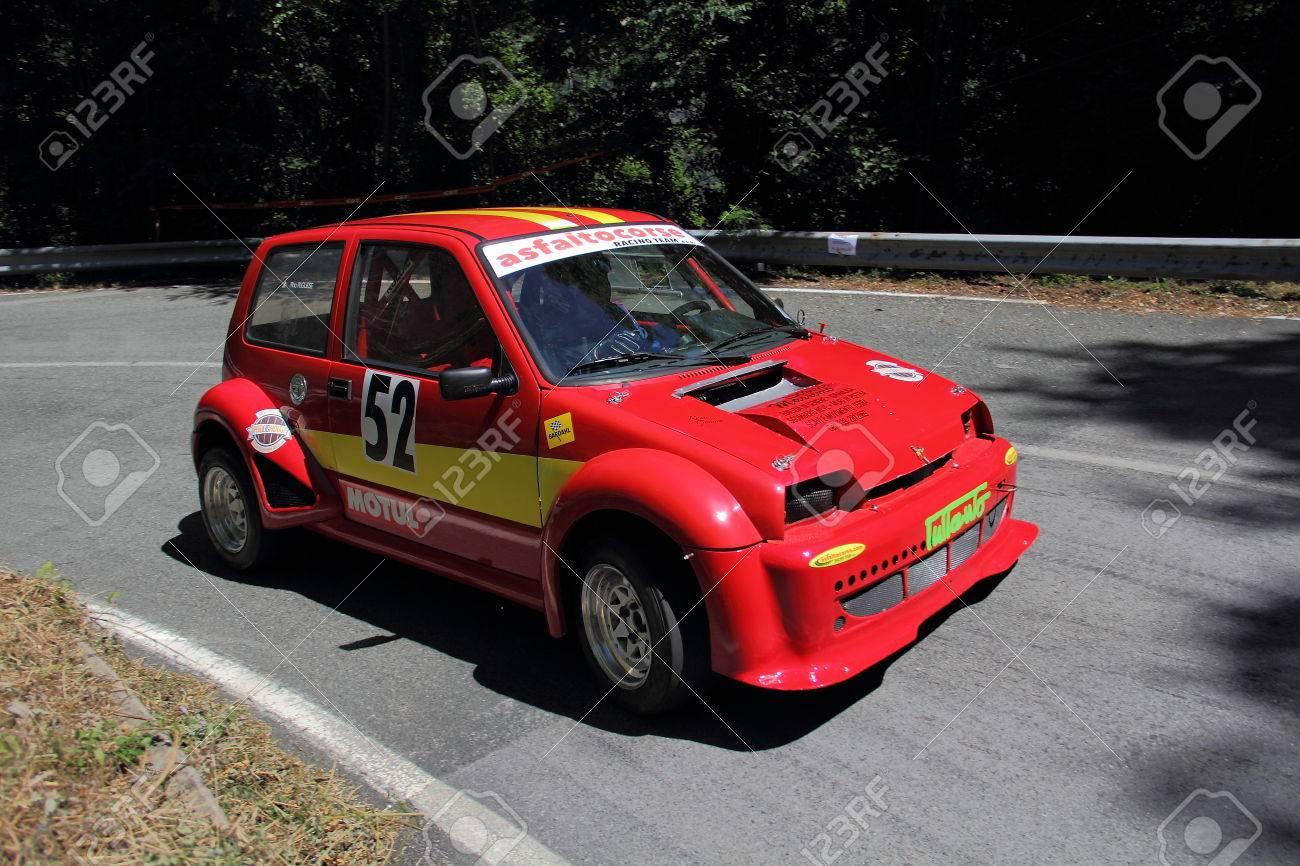 Fiat 126 Prototyp Rallye Auto Wahrend Des Rennens Der