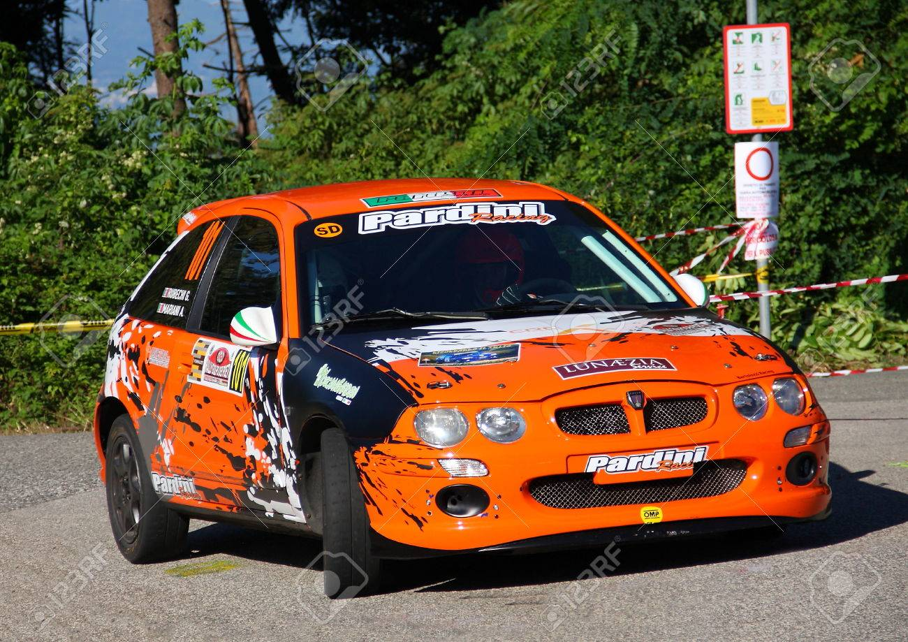 Rover Mg Zr 105 Rally Car During The Rally Gulf Of Poets 2017 ...