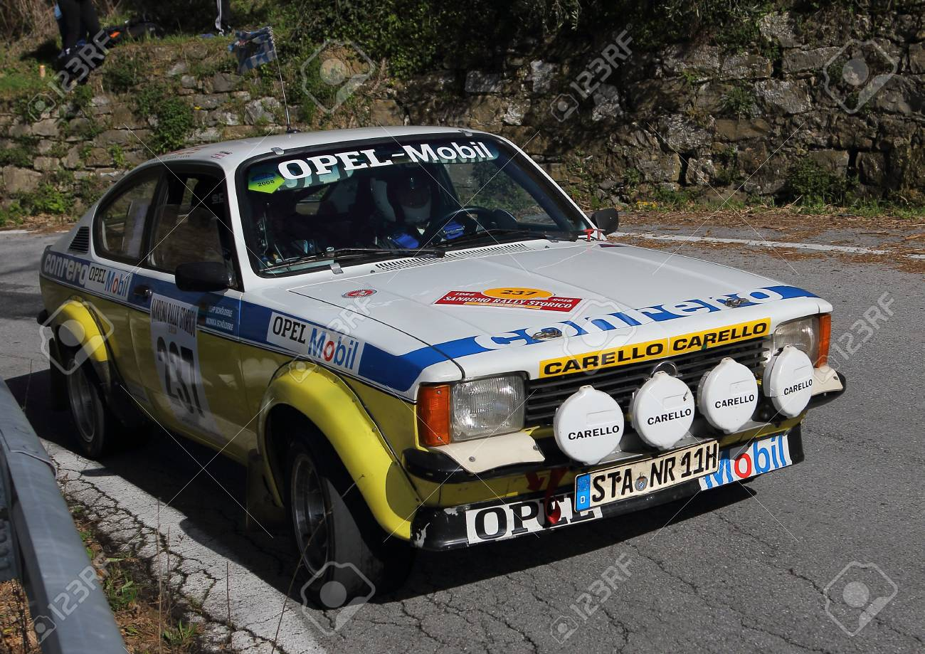 Sanremo Rally April 14 2018 Italian Testico Opel Kadett Stock Photo Picture And Royalty Free Image Image 108703589