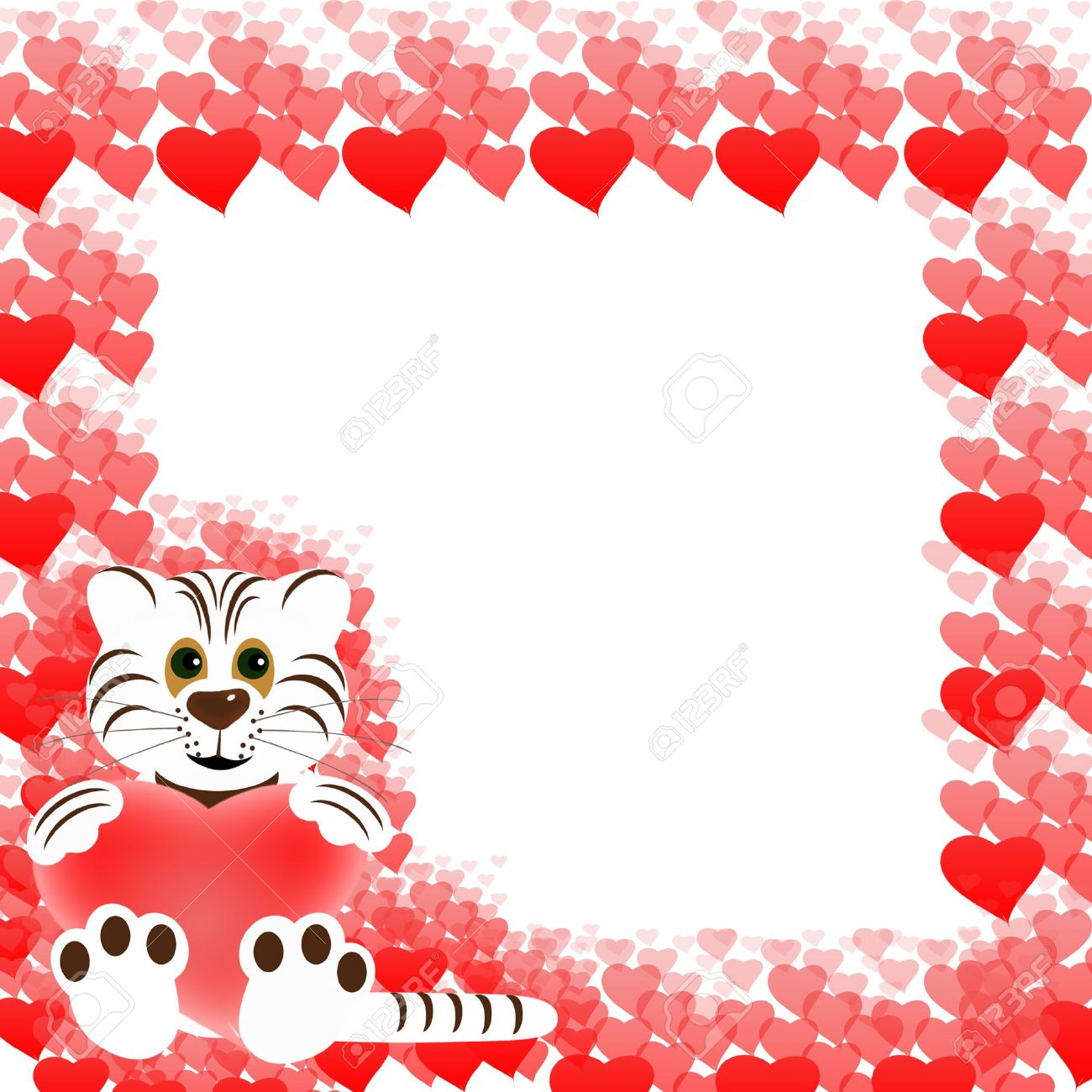 Valentines Frame Stock Photo, Picture And Royalty Free Image. Image ...