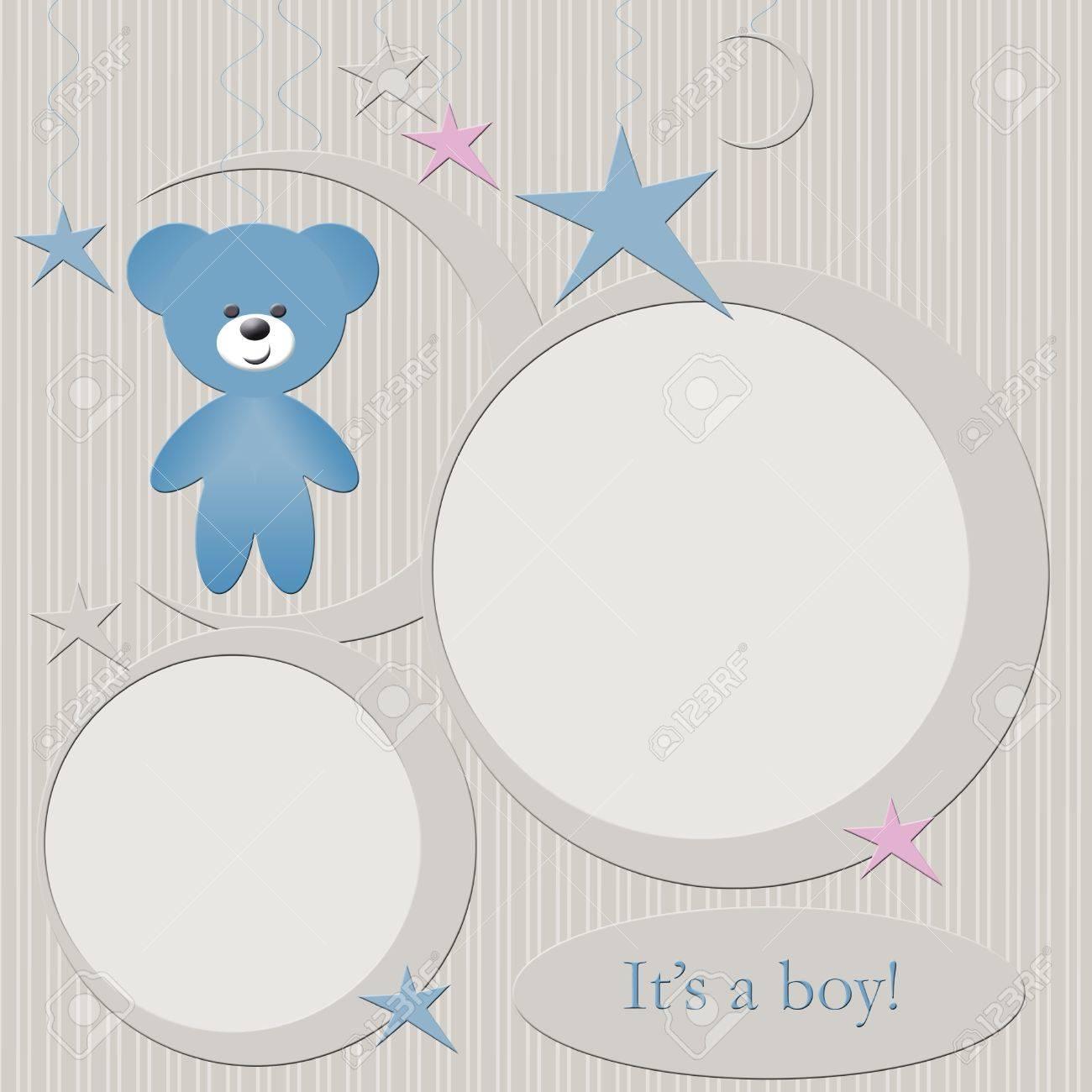 Blue babies boys photo frame Stock Photo - 11448266